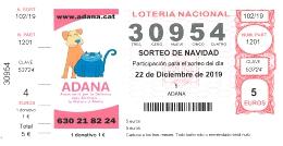 Loteria Solidaria 2019 ADANA