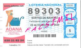 Loteria Solidaria 2020 ADANA